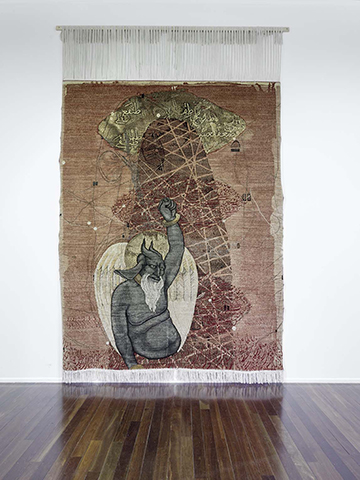 'Untitled 1' from the 'Transitions / Evacuation' series, Merino wool, afghan wool and cotton, 307 x 240 cm, 2014
