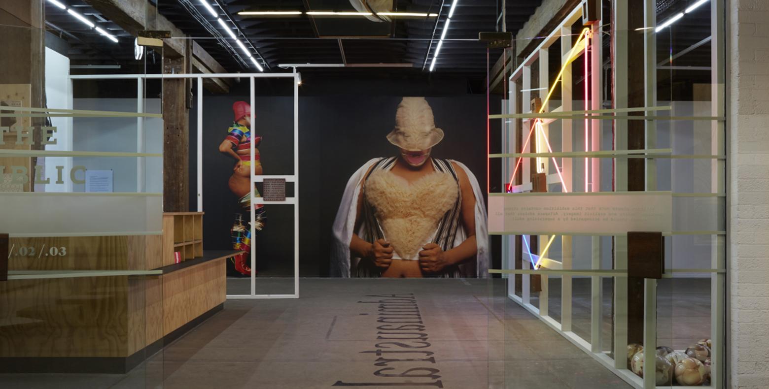 Public body art  THE PUBLIC BODY .02, 2017, installation view, Artspace, Sydney. Photo: Zan  Wimberley